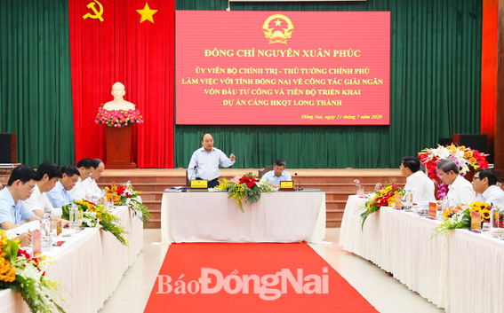 Thủ tướng Nguyễn Xuân Phúc yêu cầu nhà thầu, chủ đầu tư tập trung nguồn lực đẩy đảm bảo dự án hoàn thành đúng tiến độ đã đề ra